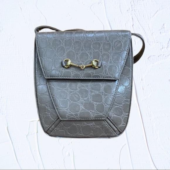 Vintage Handbags - Vintage Saddle River Structured Crossbody bag
